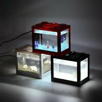 Mini Cute Fish Tank Aquariums for Turtle and Pet Fish Office Desktop Home New