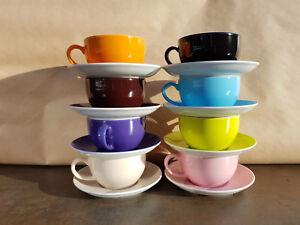 DIBBERN SOLID COLOR Kaffeetasse und Unterteller NEU * Farben siehe Liste