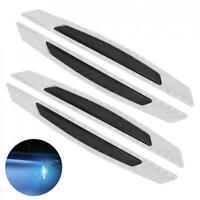 4Pcs Car Door Wheel Trim Strips Reflective Protector Anti-collision Sticker Bar