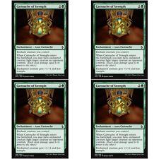 4 x CARTOUCHE OF STRENGTH NM mtg Amonkhet Green - Enchantment Aura Com