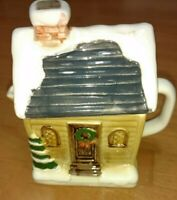 Christmas Log Cabin Otagiri Creamer Japan EUC 1980's