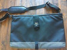 WATERFIELD DESIGNS SF BAGS 19 x 13 Black Laptop Messenger Bag Detachable Pouch