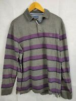 Mens Lincoln Polo Shirt Long Sleeve Set X2 Size M grey