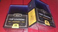 2 Packs of New CBG Standard 3x4 20 Point Toploader For Pokemon Sports Cards (50)