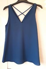 *NEW* RIVER ISLAND CAMI TOP VEST BLOUSE BLUE SIZES  8 10 AND 12