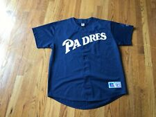San Diego Padres blue mesh jersey by Russell Athletics Mens Sz L preowned