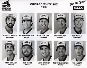 Lot of (4)1986 Team Issued Chicago White Sox Composite Photos