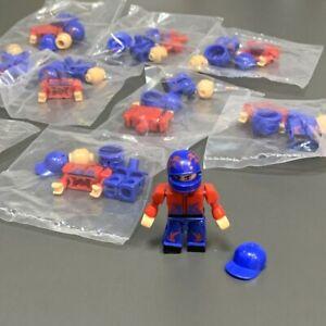 10pcs Kre-O Kreon Transformers Stunt Driver Mini Figures Blue Hat Kids Toys Rare