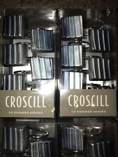 Croscill  12 Shower Hooks Decorative Hook Ring