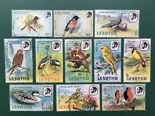Lesotho bird stamps. 8 x 1982, 1 X 1981 (M1), 2 x 1988. Used.