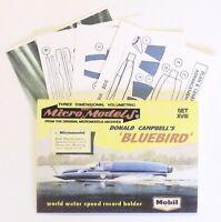 Micromodels DONALD CAMPBELL'S BLUEBIRD MOBIL VERSION SET XVIII card model kit