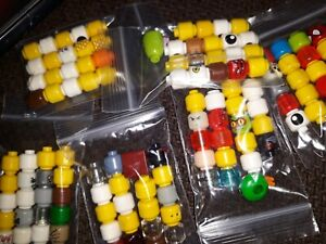 LEGO minifigure spare heads x 20 mixed lot of plain robot monster or similar