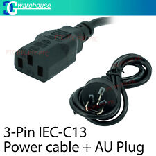 Certified AU 3 Pin to IEC Kettle Cord Plug Australian 240V Power Cable Lead Cord