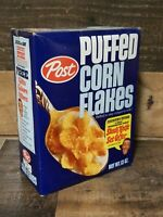 Vintage 1960s Post Puffed Corn Flakes Cereal Box Jim Nabors Kinfe Offer 13 Oz