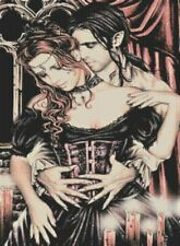 Vampire Lovers Counted Cross Stitch Kit - Goth - Fantasy - DMC - UK