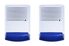 2 x Dummy Burglar Alarm Boxes - Dummy Alarm Siren - Flashing LED light