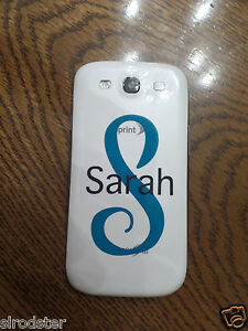 Personalized Monogram Sticker Decal for Cell Phone IPHONE, Samsung, Galaxy