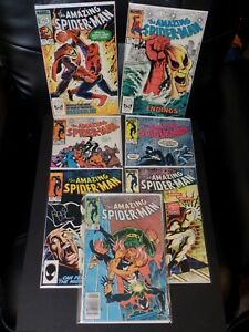 Amazing Spider-Man Lot of Seven, #'s 250, 251, 253-257