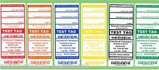 NSW CUSTOM Premium Electrical Test Tag Pack  1500 (250 x 6 colours)