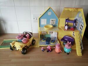Peppa Pig Bundle - House Beach Buggy Figuers
