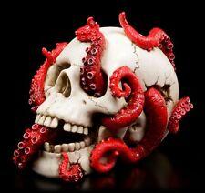CALAVERA CON tentakeln - DEVOURED Figura Krake VERONESE Decoración gótica SKULL