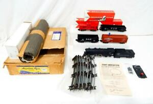 1956 American Flyer 5615T New Black Diamond Freight BOXED SET w/970 Walking Brkm