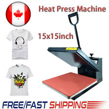 Clamshell Heat Press Machine Transfer Sublimation 15x15inch for Cloth T-Shirt CA