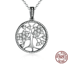 Tree of Life Pendant Sterling Silver and Cubic Zirconia