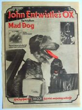 JOHN ENTWISTLE OX 1975 POSTER ADVERT MAD DOG the who