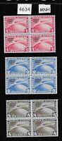 Full MNH stamp block reprint set / 1931 Graf Zeppelin Polar Flight German Reich