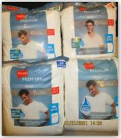 Hanes Premium Original Fit Tee Shirts S M L XL WHITE Super soft Ring Spun
