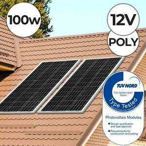 Yangtze Power® Panneau Solaire Polycristallin Photovoltaïque 100 W Camping 12 V