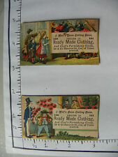 2 J WOLF'S UNION CLOTHING HOUSE BOSTON CIRCUS PERFORMERS AUDIENCE; THEATER 1229