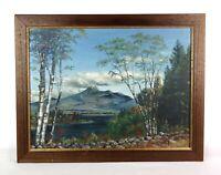 Vintage 1940's White Mountain Landscape Oil Painting Mount Chocorua Signed