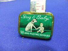 needle tin gramophone dog baby 50 needles advert advertising record player