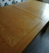 Oak extra large family dining table with extension.