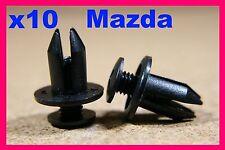 10 MAZDA door card trim fascia trim panel lining fastener screw clips