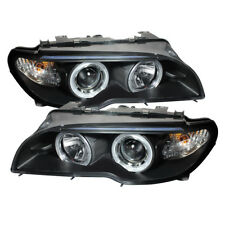 BMW 04-06 E46 3-Series Coupe / Convertible Black Dual Halo Projector Headlight