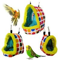 Pet bird parrot parakeet budgie warm hammock cage hut tent bed hanging cave