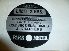 Park O Meter Parking Meter Decal 2 H.R. Nickel Dime Quarters