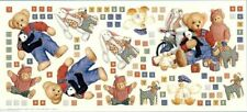 "25+ Jumbo Blue Jean Teddy Bear 18""x40"" Wall Stickers Baby Room Stick Up Reusable"