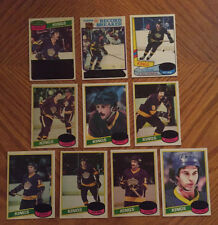 1980-81 Topps LOS ANGELES KINGS Team Set (10) Unscratched Charlie Simmer