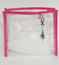 Mariah Carey Butterfly Clear Small Plastic Multi Function Pouch Bag & Charm New