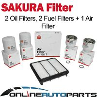 Oil Air Fuel Filter Double Service Kit fit Triton ML MN 4cyl 4D56 2.5L 2008-2014
