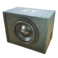 """CT Sounds Single Bio 10"""" In Subwoofer Bass Package with Factory Tuned Ported Box"""