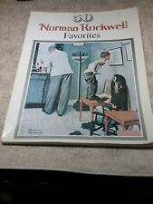 """Large 1977 Book """"50 Norman Rockwell Favorites"""" 104 Pages - Very Good Condition"""
