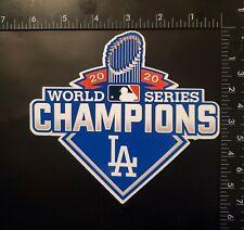 "Los Angeles Dodgers 2020 World Series Champions Vinyl Sticker 6"" x 5.5"" GO BLUE!"