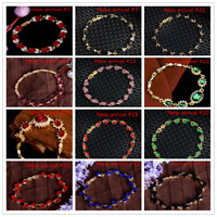 Fashion Women 18k Gold Plated Austrian Crystal Magnetic Bracelet Chain Jewelry
