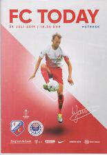 Programme / Programma FC Utrecht v HJK Zrinjski Mostar 25-07-2019 Europa League