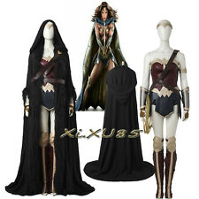 Halloween Cosplay Wonder Woman Cosplay Costume Women's Outfit With Cape Cloak